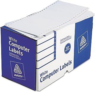 Avery 4076 ملصقات شحن لطابعة Dot Matrix ، 1 عبرة، 2 15/16 x 5، أبيض (صندوق من 3000)