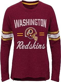 Outerstuff NFL Washington Redskins Youth Boys Team Captain Long Sleeve Slub Tee Burgundy, Youth X-Large(16)