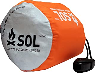 S.O.L. Survive Outdoors Longer S.O.L. 90% Reflective Ultra-Lightweight Emergency Bivvy, Multiple Colors