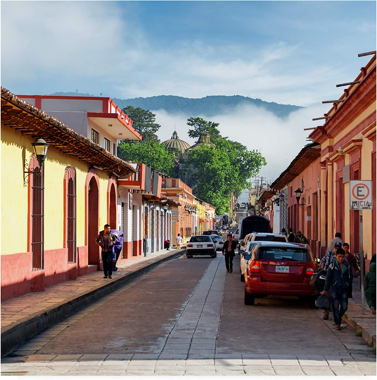 Trademark Fine Art PH01533-C1414GG Viva Mexico 3 Morning in San Cristobal de Las Casas II by Philippe Hugonnard, 14x14