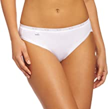 Sloggi Womens 3 Pack Basic+ Cotton Rich Tai Brief Black or White