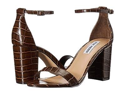 Steve Madden Exclusive Declair Block Heeled Sandal (Brown Croco) High Heels
