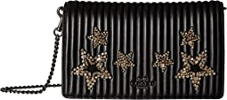 Fold-Over Chain Clutch in Crystal Embellishment