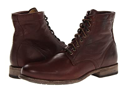 Frye Tyler Lace Up (Dark Brown Soft Vintage Leather) Men