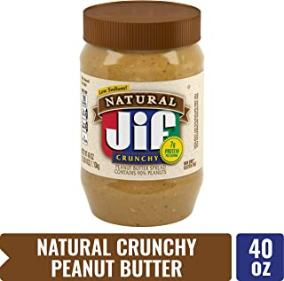 Jif Natural Crunchy Peanut Butter Spread, 40 Ounce