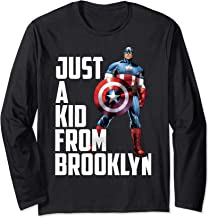 Marvel Avengers Captain America Just A Kid From Brooklyn Long Sleeve T-Shirt