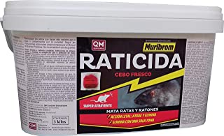 Muribrom Quimunsa Raticida Cebo Fresco 3kg Veneno Ratones,