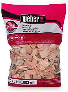 Weber Cubic Meter Stephen Products 17140 Cherry Wood Chips, 192 cu. in. (0.003 cub, 2 lb