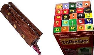 木製Incense Burner with 25?Fragrances x 8?sticks set?–?by Holy Land市場