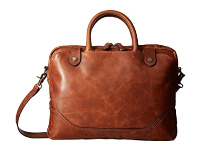 Frye Logan Slim Brief (Cognac Antique Pull Up) Briefcase Bags