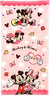 【Disney】 ディズニー キャラクター バスタオル 約60x120cm 綿100% (ミッキー&ミニー)