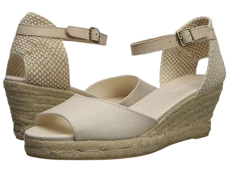 Soludos Open-Toe Midwedge 70mm (Blush) Women