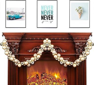Costyleen Christmas Garland Balls Ornaments Outdoor Indoor Home Party Xmas Tree Decors Decorative Luxury Golden(16in
