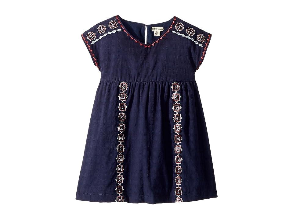 Lucky Brand Kids Sophia Dress (Toddler) (Black Iris) Girl