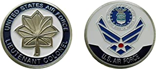 """Air Force Officer Ranks - Lieutenant Colonel """"O - 5"""" Collectible Challenge Coin /Logo Poker / Lucky Chip/ Gift"""