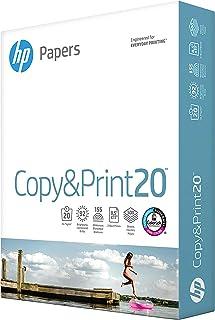 HP Paper 8.5x11 Printer Paper | Copy&Print 20 lb. | 1 Ream Case – 500 Sheets | 92 Bright | Made in USA – FSC Certified | 2...