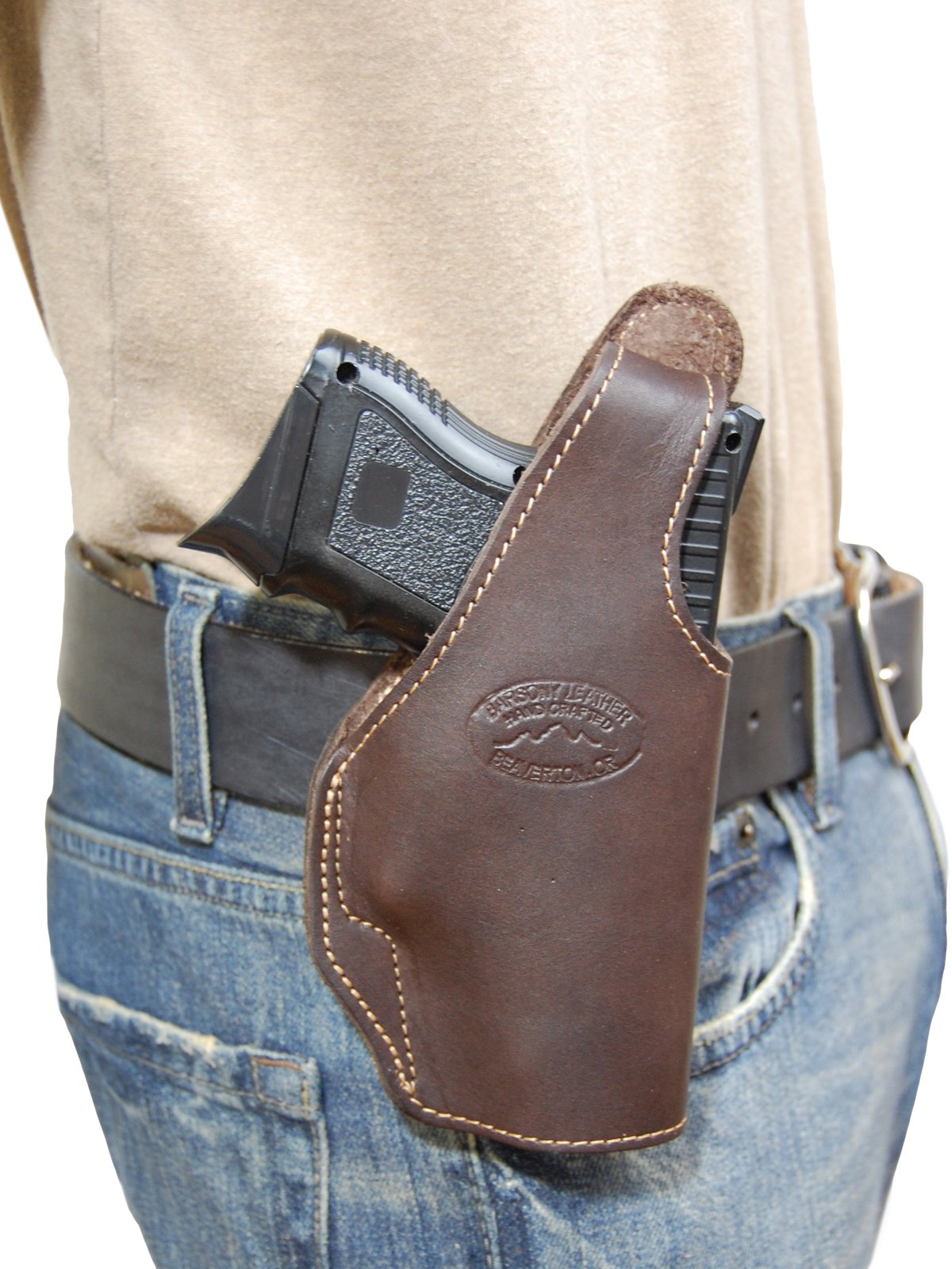 Barsony Brown Leather Holster GLOCK