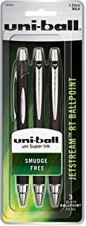 uni-ball Jetstream RT Ballpoint Pens, Bold Point (1.0mm), Black, 3 Count