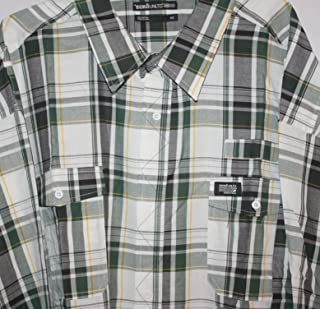 Ecko Crusher Pine Green,Navy,Yellow, White LS Shirt Snap Pkt $60 5XL Big