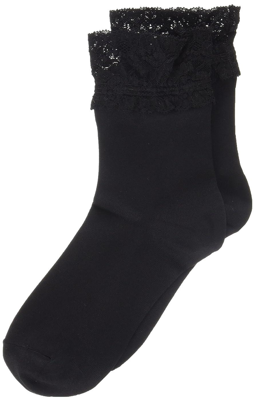 別の羊のオプショナルAR0213 ミセススニーカーソックス(婦人靴下) ゆったりはきやすい 22-24cm ブラック