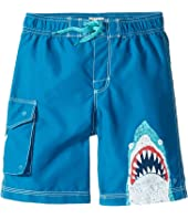 Hatley Kids - Toothy Shark Boardshorts (Toddler/Little Kids/Big Kids)