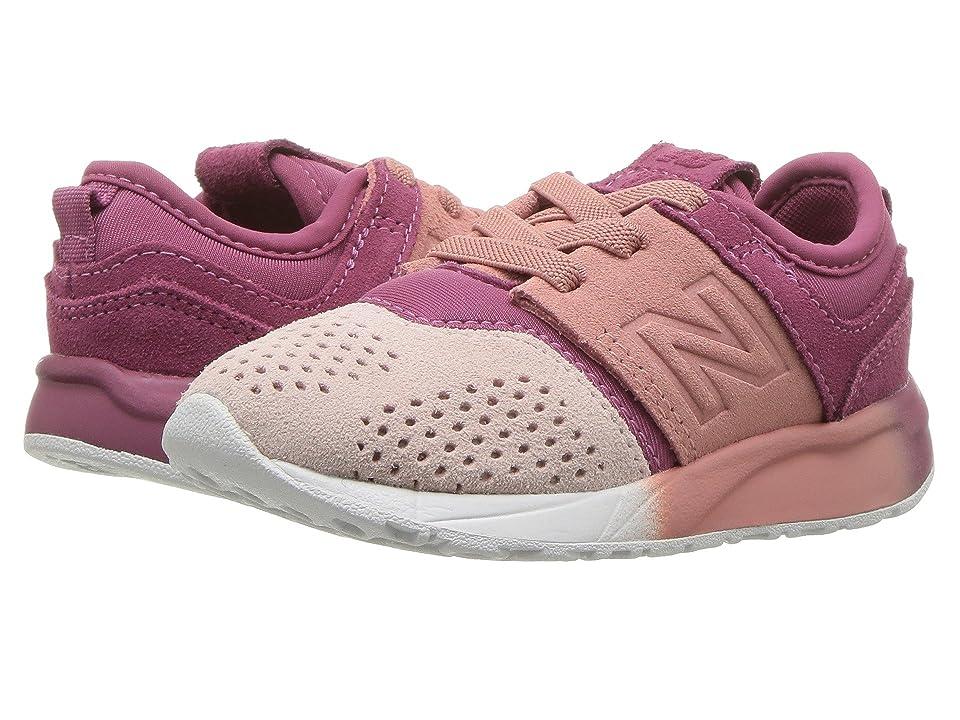 New Balance Kids KA247v1I (Infant/Toddler) (Dusted Peach/Sunrise Glo) Girls Shoes