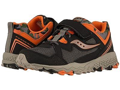 Saucony Kids Peregrine Shield 2 A/C (Little Kid/Big Kid) (Black/Orange/Camo) Boys Shoes