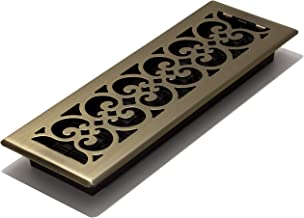Decor Grates SPH414-A Floor Register, 4-Inch by 14-Inch, Antique Brass