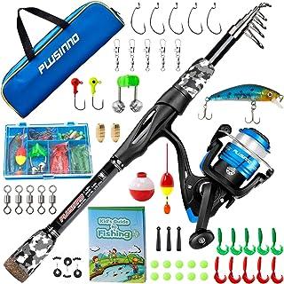 PLUSINNO Kids Fishing Pole, Portable Telescopic Fishing...