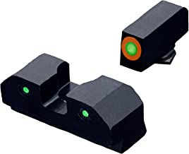XS Sights 3-Dot Tritium Night Sights, Orange Photoluminescent Outline, Fits Glocks Gen 1 – Gen 5