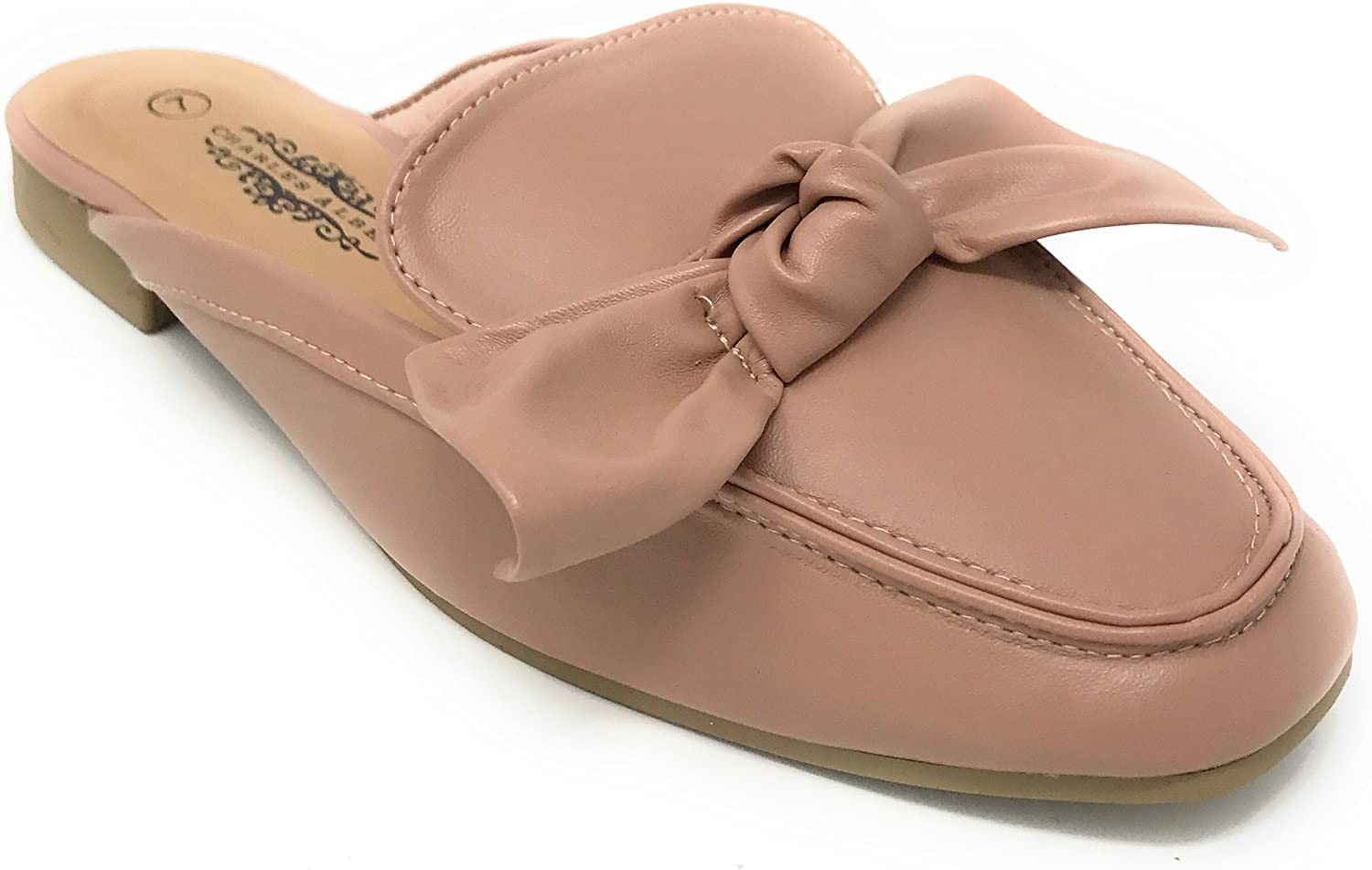 Charles Albert Women's Comfortable Slip-On Mule with Bow Design