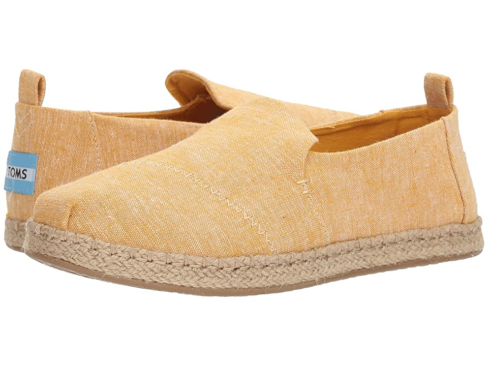 TOMS Deconstructed Alpargata Rope (Mustard Slub Chambray) Women