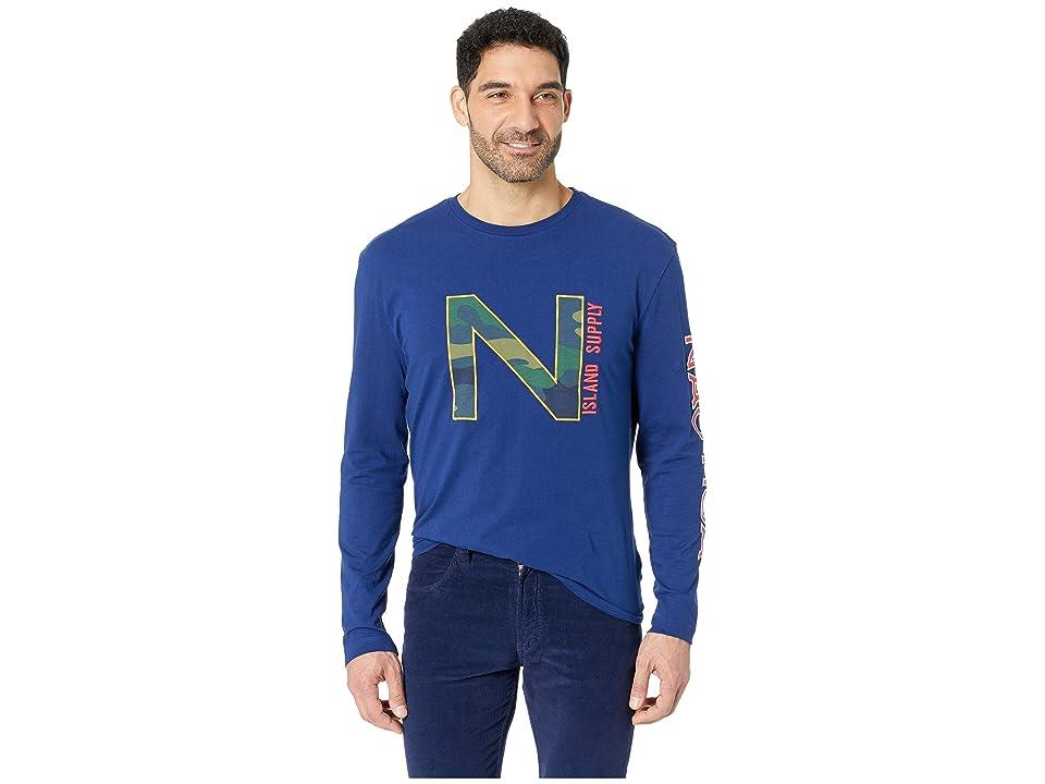 Nautica Long Sleeve Nautica Fashion Tee (Blue Depths) Men