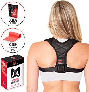 PRO PERFORMANCE+ Posture Corrector | Clavicle Support For Upper Back Neck & Shoulders | Corrects Bad Posture | Fully Adjus...