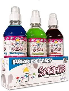Premium Shaved Ice SnowCone Syrup Sugar Free 3 Pack