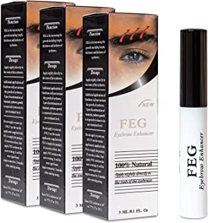 سرم درمان رشد تقویت کننده ابرو FEG | سرم تقویت کننده ابرو برای افزایش ، ضخیم شدن و تیره شدن ابروها | بدون تحریک و بی خطر برای انواع پوست | 3 بسته