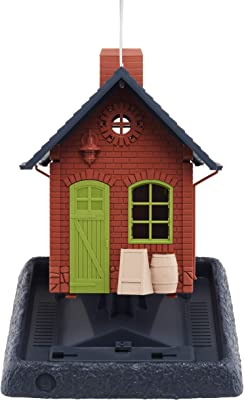 North States Village Collection Old Town Pub Birdfeeder: Easy Fill and Clean. Squirrel Proof Hanging Cable included, or Pole Mount (pole sold separately). Large, 5 pound Seed Capacity (9.5 x 10.25 x 11, Brick Red)