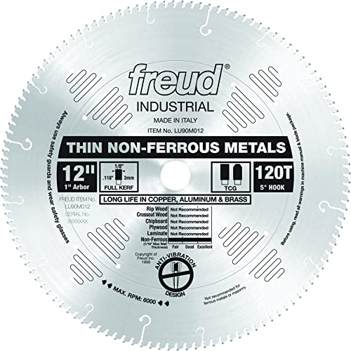 """popular Freud 12"""" x high quality 120T Thin outlet online sale Stock Non-Ferrous Metal Blade (LU90M012) outlet online sale"""