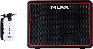 NUX Mighty Lite BT Desktop Bluetooth Guitar Amplifier Bundle with B-2 White 2.4 GHz Digital Wireless Instrument System