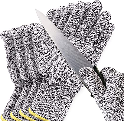 Cut Resistant Gloves Safe Cut Resistant Gloves Food Grade Level 5 Protection Safety Cutting Gloves for Kitchen