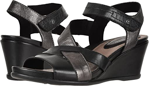 Black Multi Soft Burnished Leather