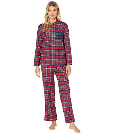 Vineyard Vines Merry Plaid Lounge Set (Red Velvet) Women