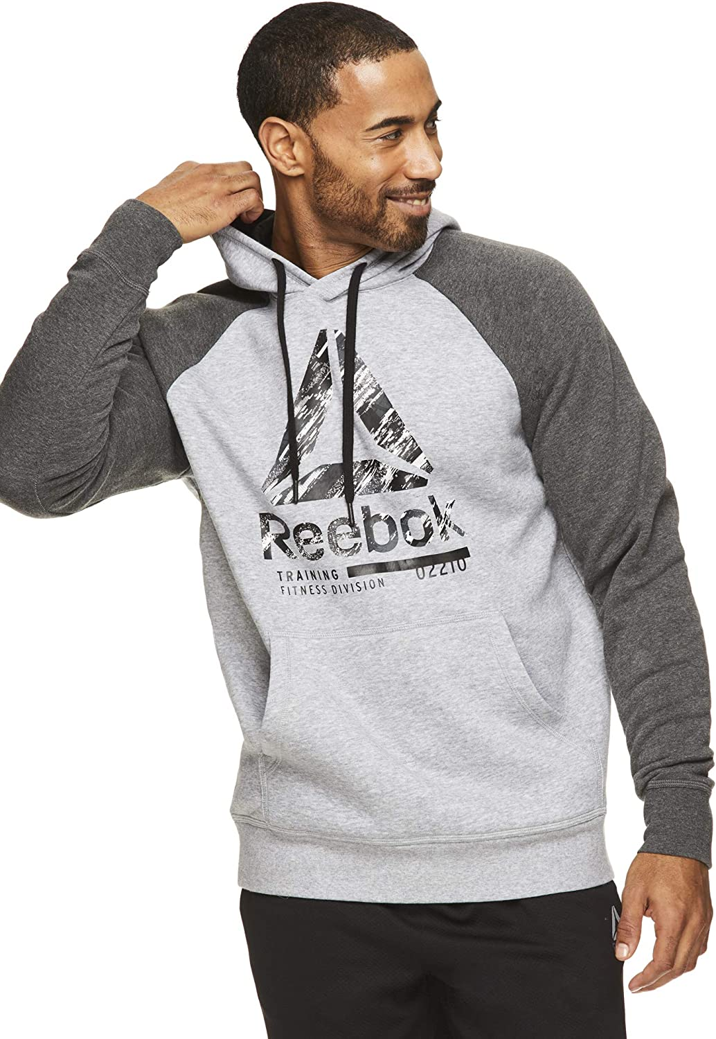 Reebok Directly managed store Men's Performance Pullover Daily bargain sale Hoodie - Hooded Graphic Active
