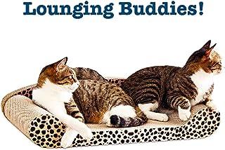Gluckluz Cat Scratcher Pad Scratch Bed Kitten Scratching Board Couch Sofa Lounge Pet Furniture Self Groomer