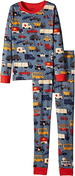 Hatley Kids - Rush Hour Long Sleeve Pajama Set (Toddler/Little Kids/Big Kids)