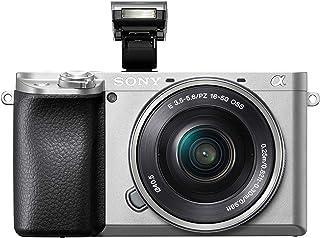 Sony Alpha 6100 E-Mount Systeemcamera, 24 megapixels, 4K video, 180° touchscreen, 0.02 sec. Real-time autofocus met 425 co...