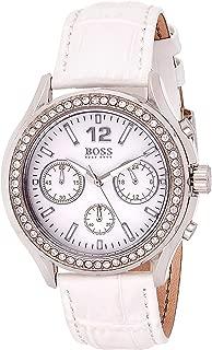 Hugo Boss Womens Quartz Watch, Chronograph Display and Leather Strap 1502263