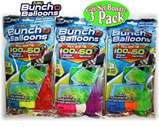 ZURU Bunch O Balloons Instant 100 Self-Sealing Water Balloons Complete Gift Set Bundle, 6 Piece (600 Balloons Total)