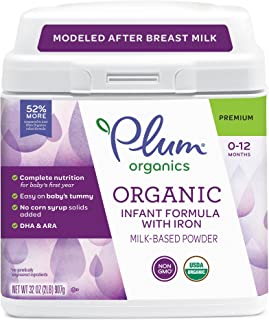 Plum Organics, Organic Infant Formula with Iron, 32 ounce (Packaging May Vary)