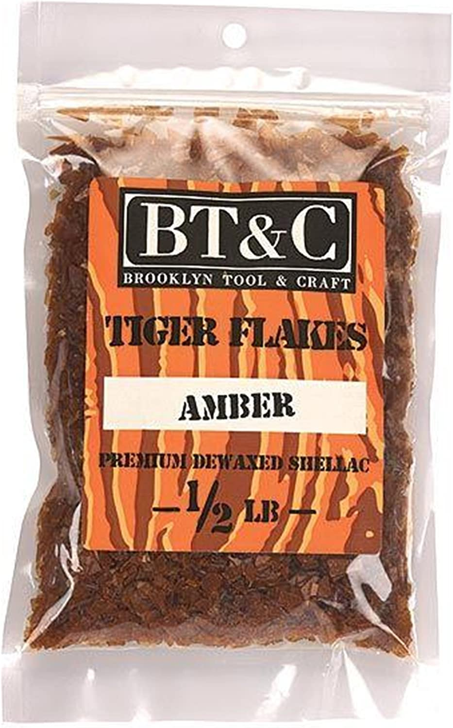 Sale Special Price Brooklyn Tool and Craft Shellac Flakes NEW before selling ☆ Amber 1 Tiger 2 lb